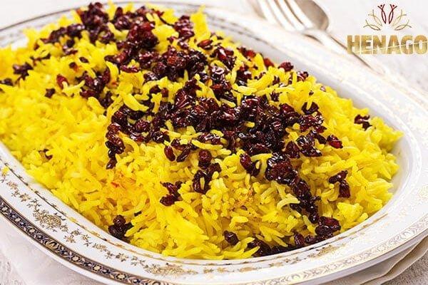 Cơm saffron ba tư truyền thống