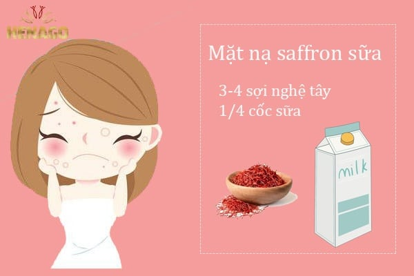 Mặt nạ Saffron sữa
