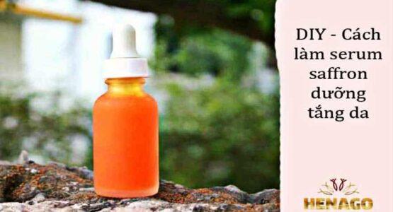 Tự làm Serum Saffron dưỡng trắng da tại nha