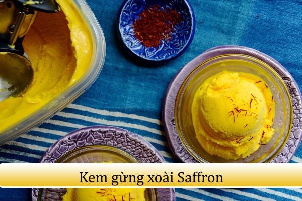 Hướng dẫn cách làm kem xoài kết hợp gừng và Saffron